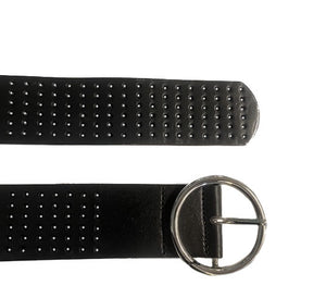 MIRANDA - Black Genuine Leather Belt  - Belt N Bags