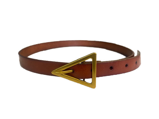 SUNBURY -  Tan Genuine Leather Belt with Triangle Buckle  - Belt N Bags