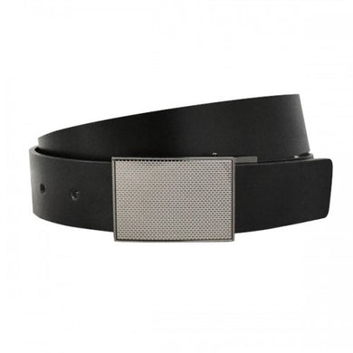 BROOKLYN - Mens Bonded Reversible Belt in Black & Charcoal - BeltNBags