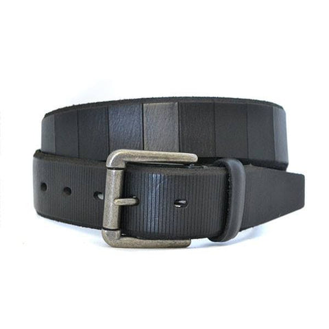 AARON - Mens Black Genuine Leather Belt