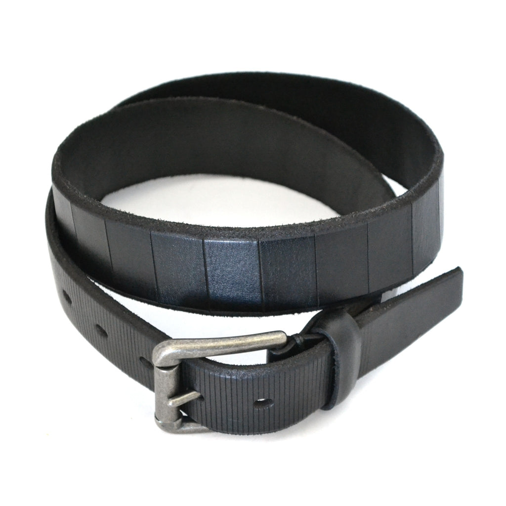 AARON - Mens Black Genuine Leather Belt - Belt N Bags