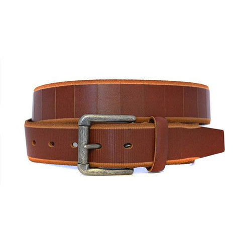 AARON - Mens Tan Genuine Leather Belt