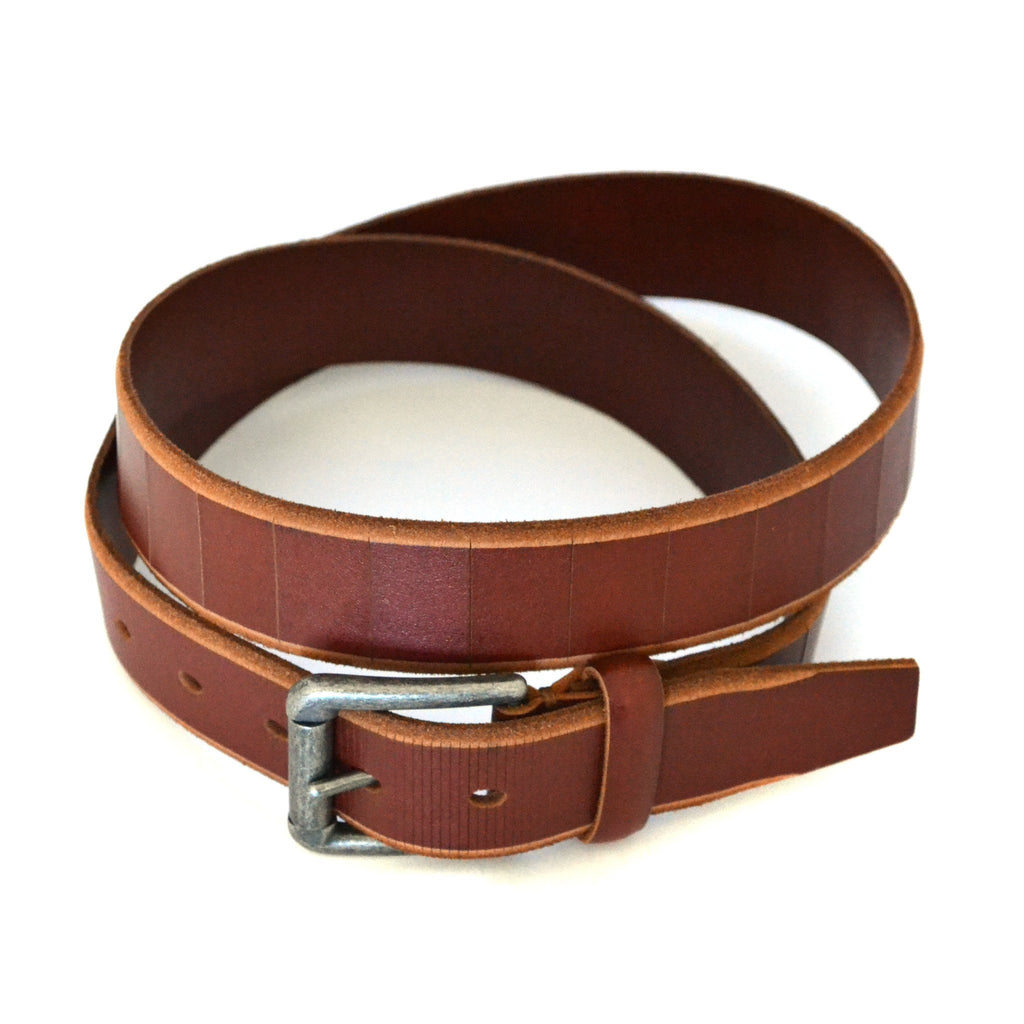 AARON - Mens Brown Genuine Leather Belt - Belt N Bags
