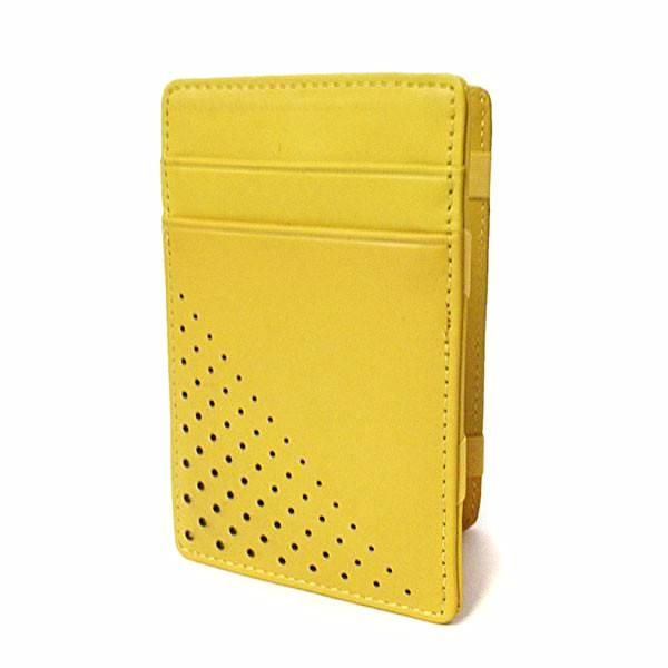 ADALSON - Mens Yellow Light Flip Leather Magic Wallet in Gift Box  - Belt N Bags