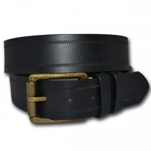 ALBERT - Mens Black Genuine Leather Belt - Belt N Bags
