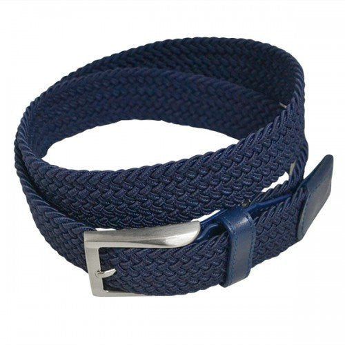 ALEC - Mens Woven Navy Elastic Stretch Belt - Belt N Bags