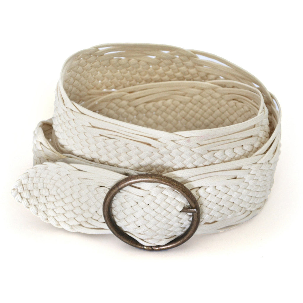 ANNALISE - Womens Cream Plaited Belt - CLEARANCE  - Belt N Bags