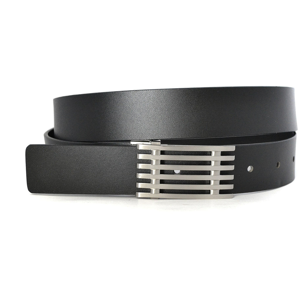 ANTONIO - Mens Black Genuine Leather Belt - Belt N Bags