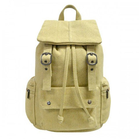 ARIZONA - Khaki Canvas Backpack Bag