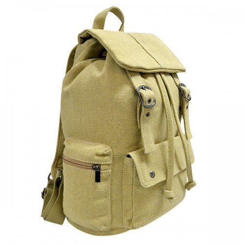 ARIZONA - Khaki Canvas Backpack Bag - Belt N Bags