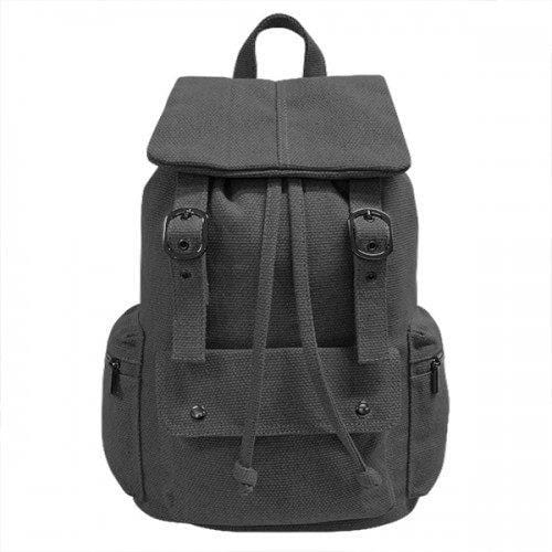 ARIZONA - Charcoal Canvas Backpack Bag - Belt N Bags