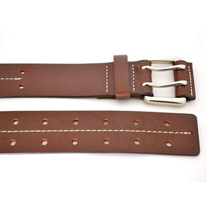 ASHTON - Mens Dark Brown Genuine Leather Belt - BeltNBags