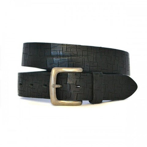 AXEL - Mens Black Genuine Leather Belt