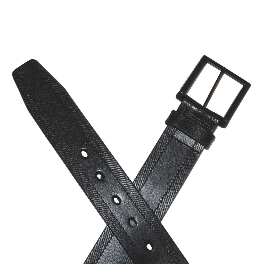ADAM - Mens Black Genuine Leather Belt