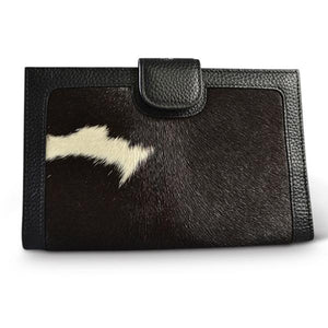 DARTBROOK- Addison Road Twofold Leather Cow Hide Natural Wallet - BeltNBags