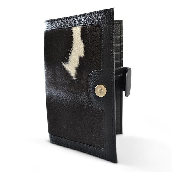 DARTBROOK- Addison Road Twofold Leather Cow Hide Natural Wallet