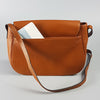 ALBERT PARK - Cognac Pebbled Leather Saddle Bag  - Belt N Bags
