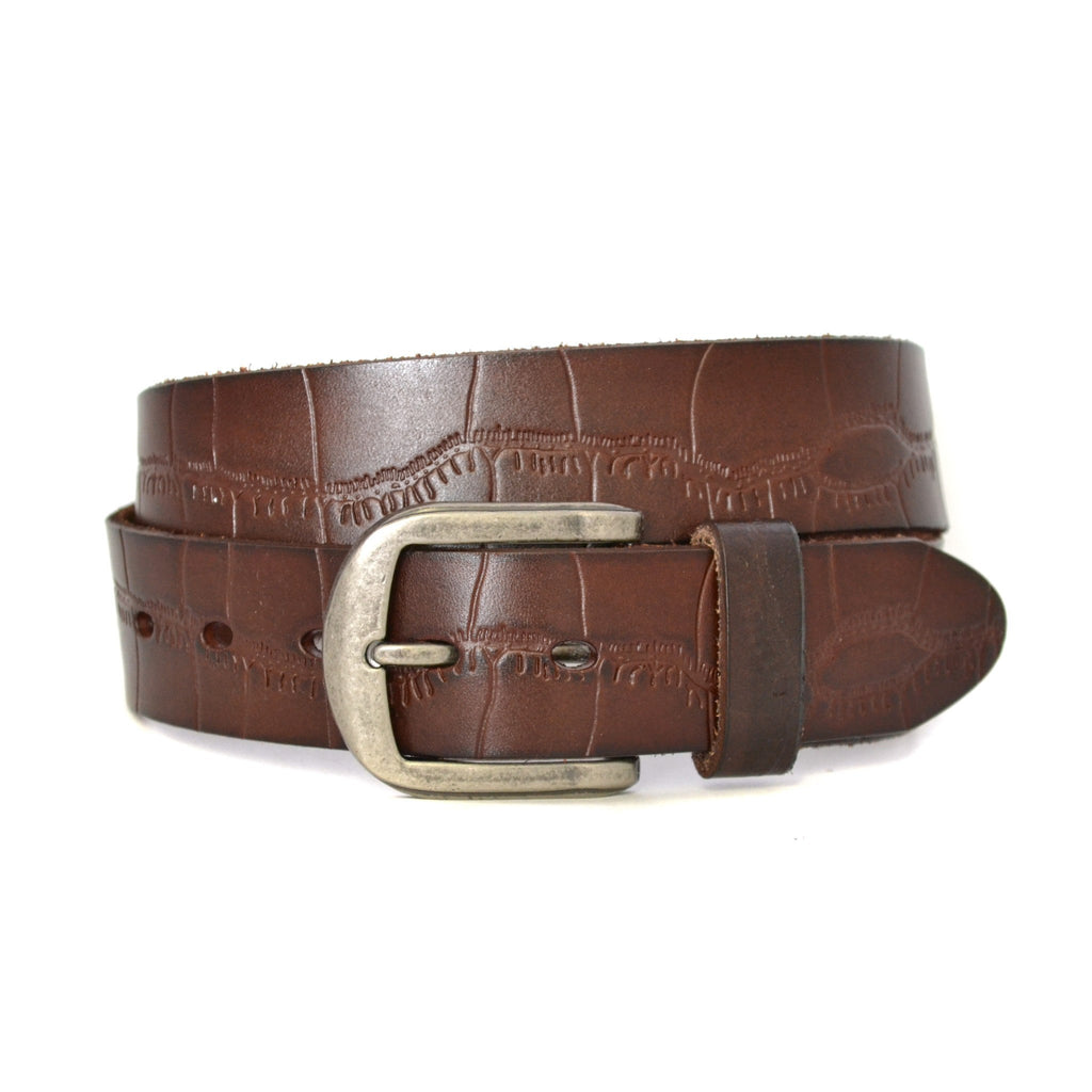 ANTON - Mens Brown Genuine Leather Belt  - Belt N Bags