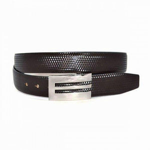 ASHER - Mens Brown Genuine Reversible Leather Belt  - Belt N Bags