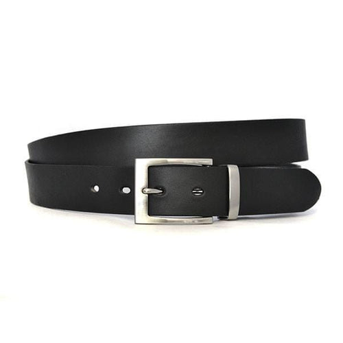 ASHLAR - Mens Black Genuine Leather Belt-Mens Belt-BeltNBags-BeltNBags