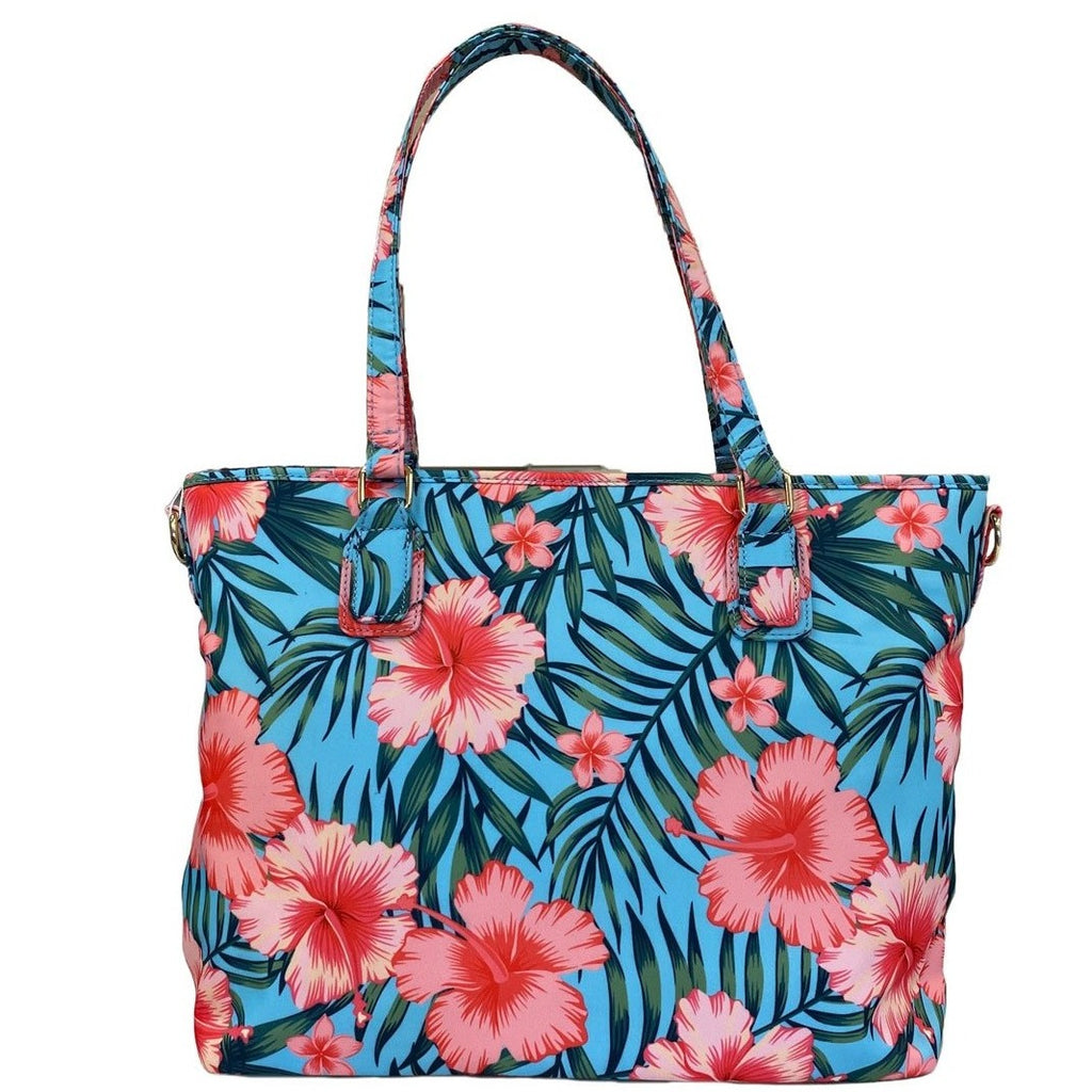 CALOUNDRA - Women's Pink and Blue Flower Bag