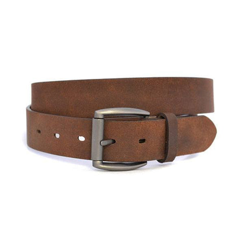 BERNADO - Mens Brown Genuine Leather Belt