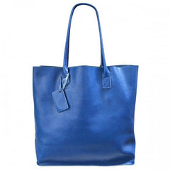 BIRCHGROVE - Womens Blue Genuine Leather Tote