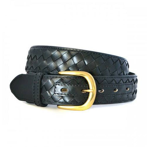 BRADLEY - Mens Black Genuine Leather Belt