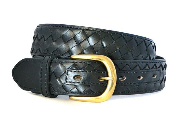 BRADLEY - Mens Black Genuine Leather Belt - Belt N Bags
