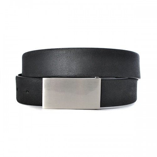 BRENDON - Mens Black Genuine Leather Belt - Belt N Bags