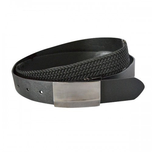 BRIXTON - Mens Black Genuine Leather Flexi-Belt