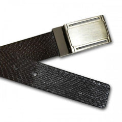 BRONX - Mens Black and Brown Bonded Leather Belt