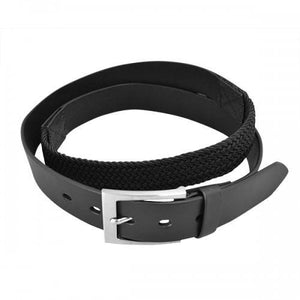 RALPH - Mens Black Genuine Leather BIG SIZE Flexi-Belt - BeltNBags