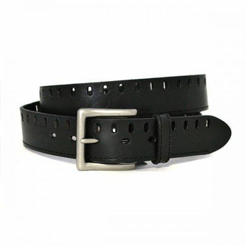 BOBBY - Mens Black Genuine Leather Belt