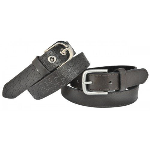 Boys Brown PU Dress Twin Belt Pack  - Belt N Bags