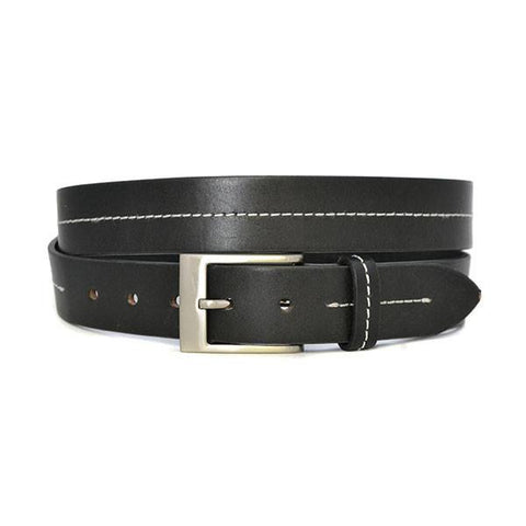 BRIAN - Mens Black Genuine Leather Belt