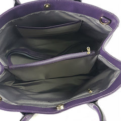 BRIGHTON - Grape Pebbled Leather Handbag