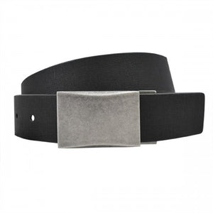 JAKE - Mens Black and White Bonded Leather Belt - Belt N Bags
