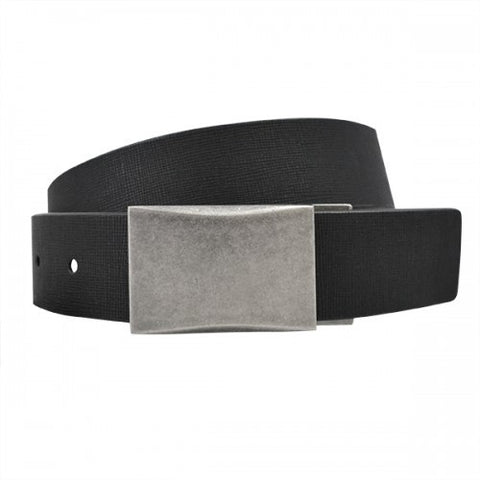 JAKE - Mens Black and White Bonded Leather Belt