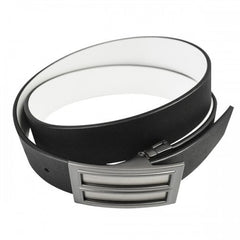 ZORAN - Mens Black and White Bonded Leather Belt