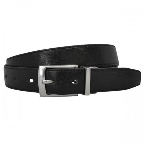 CADELL - Mens Black & Chocolate Reversible Genuine Leather Belt