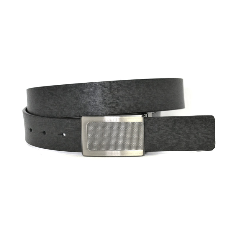 CAIN - Mens Black & Charcoal Reversible Belt  - Belt N Bags
