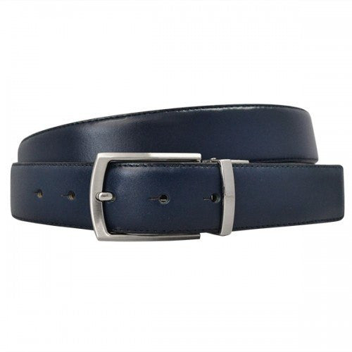 CAMERON - Mens Navy & Black Genuine Leather Reversible Belt