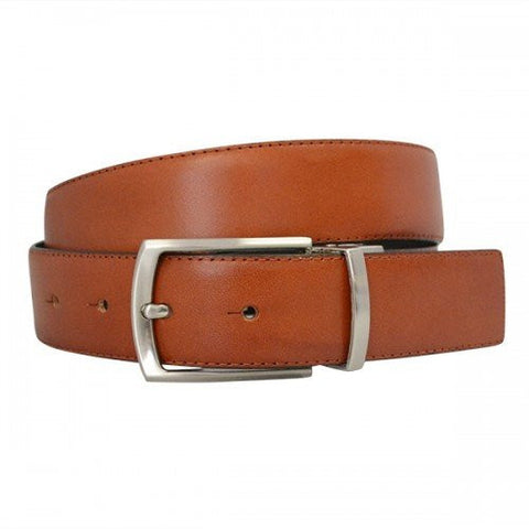 CAMERON - Mens Tan & Black Genuine Leather Reversible Belt