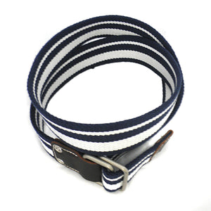 CAMPBELL - Mens Navy & White Webbing Belt  - Belt N Bags