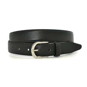 CARLOS - Mens Black Genuine Leather Belt - BeltNBags