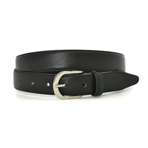 CARLOS - Mens Black Genuine Leather Belt