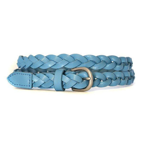 CAROL - Womens Blue Genuine Leather Belt