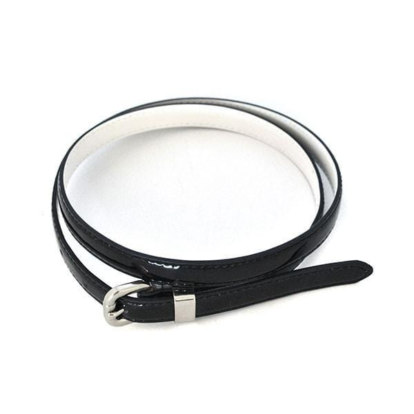 CARRIE - Womens Black Genuine Leather Belt - Belt N Bags