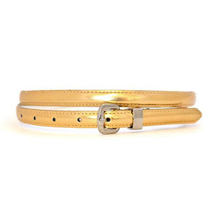 CARRIE - Womens Gold Genuine Leather Belt - Belt N Bags
